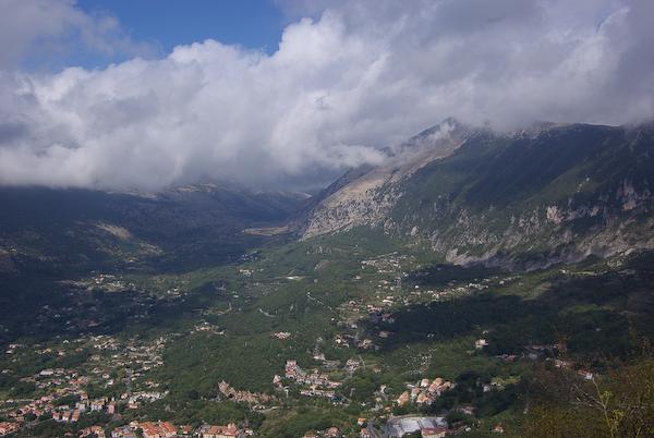 Urlaub 2008 - Blick auf Maratea von ganz oben