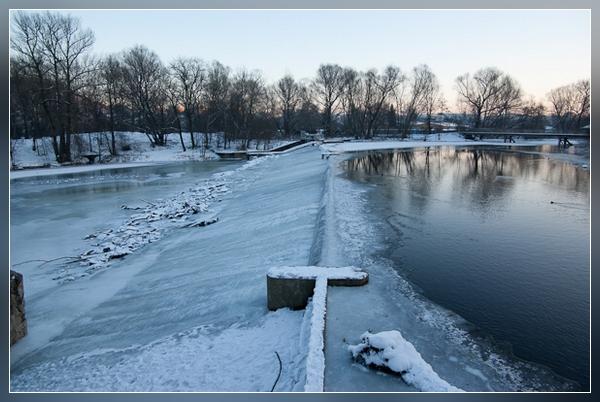 Jena - fest in Winterhand - das Göschwitzer Wehr